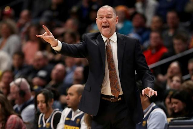 Head coach Michael Malone of the Denver Nuggets Malone said results from an antibody test revealled that he had the coronavirus back in March (AFP Photo/MATTHEW STOCKMAN)