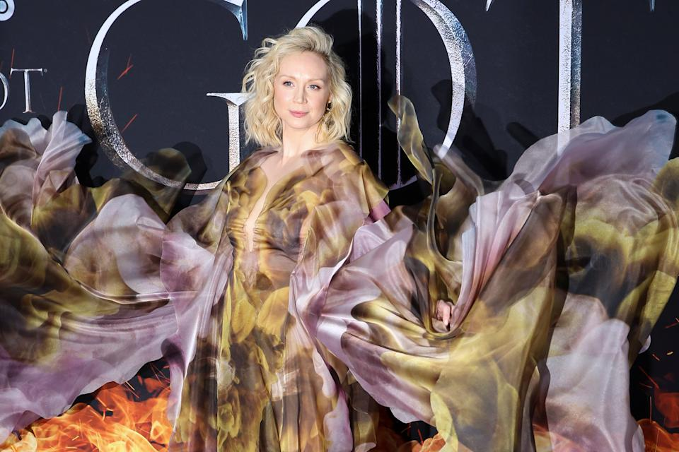"""Gwendoline Christie arrives for the premiere of the final season of """"Game of Thrones"""" at Radio City Music Hall in New York, U.S., April 3, 2019. REUTERS/Caitlin Ochs"""