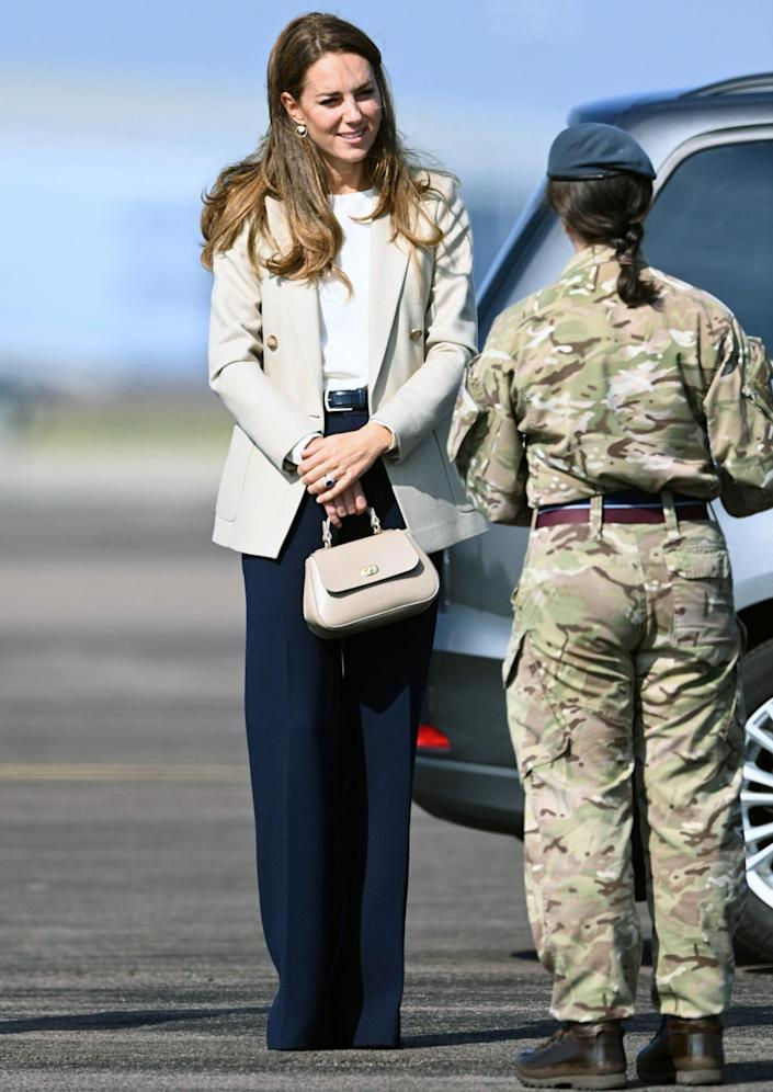 The Duchess Of Cambridge Meets Those Involved In The Evacuation Of Afghanistan