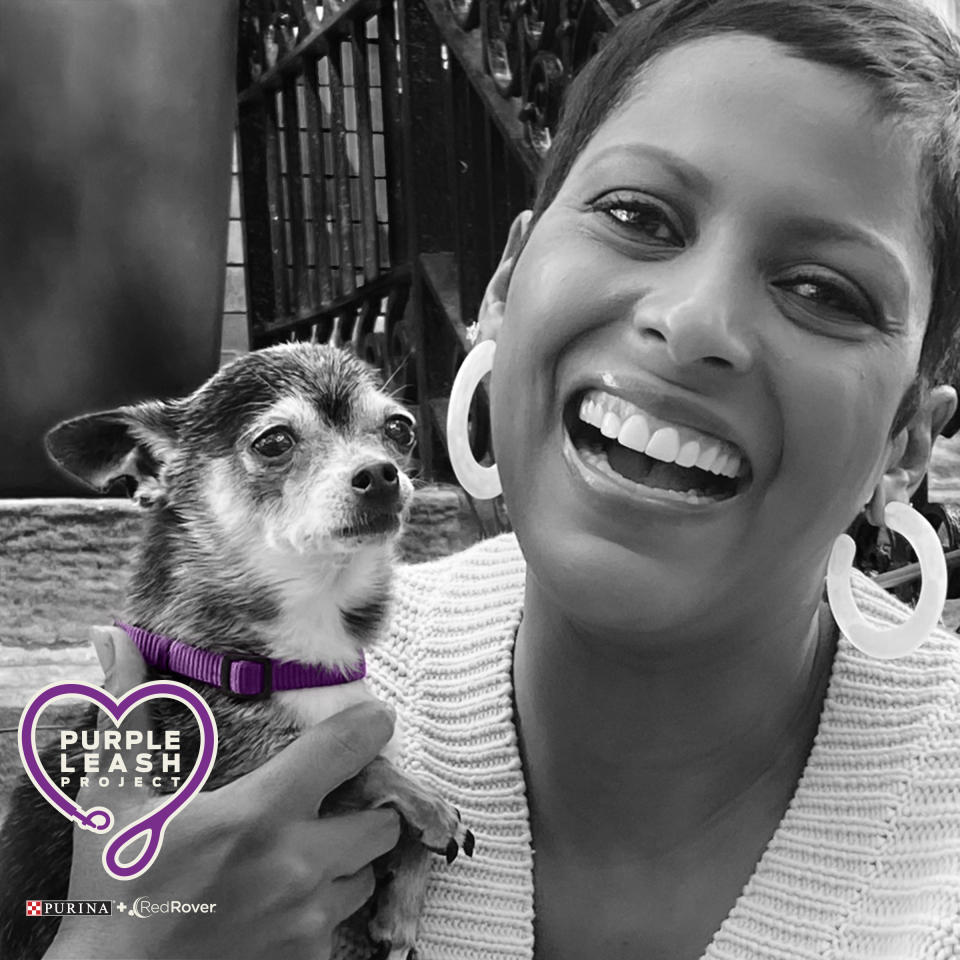 Hall is supporting the Purple Leash Project and survivors of domestic abuse. (Photo: Courtesy photo)
