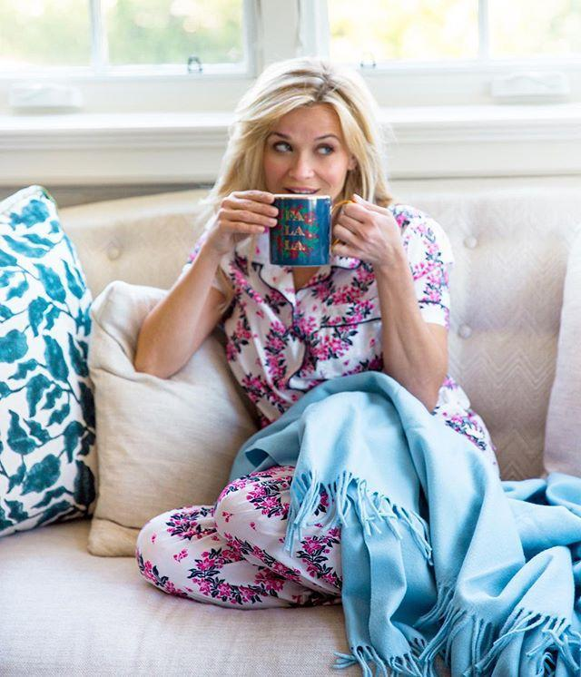 """<p>Reese regularly posts on Instagram about her love for a good cup of morning coffee. </p><p><a href=""""https://www.instagram.com/p/BN19_eIAWfu/"""" rel=""""nofollow noopener"""" target=""""_blank"""" data-ylk=""""slk:See the original post on Instagram"""" class=""""link rapid-noclick-resp"""">See the original post on Instagram</a></p>"""