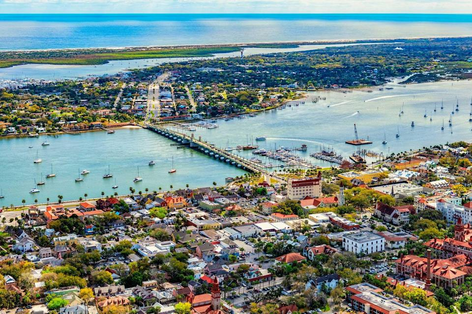 Saint Augustine, Florida From Above