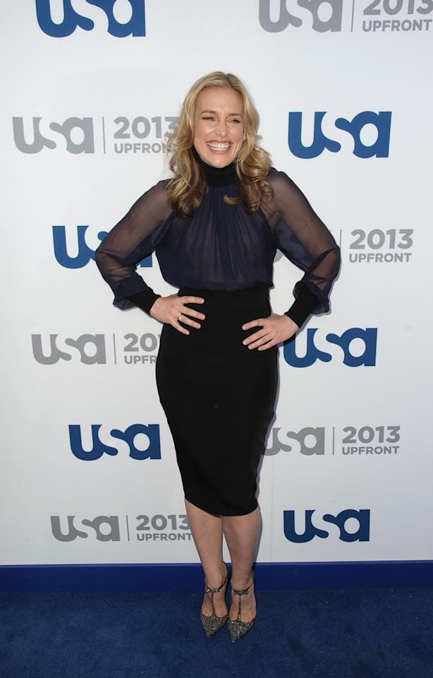 NEW YORK, NY - MAY 16:  Piper Perabo attends USA Network 2013 Upfront Event at Pier 36 on May 16, 2013 in New York City.  (Photo by Dave Kotinsky/Getty Images)