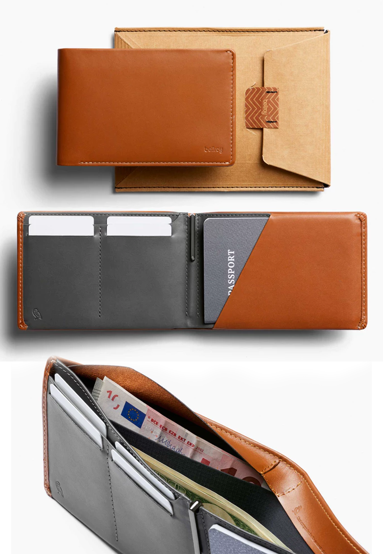 """<h3>The World Traveler Dad</h3><p>If he's lucky enough to spend time doing what he loves most — learning languages firsthand on foreign land — then he'll appreciate this hold-everything wallet. No George Costanza moments here, this sleek premium leather wallet comes with RFID protection, a tiny pen for pertinent notes, passport holder, and hidden compartment for extra cash.</p><br><br><strong>Bellroy</strong> Travel Wallet, $119, available at <a href=""""https://bellroy.com/products/travel-wallet-rfid/leather_rfid/caramel"""" rel=""""nofollow noopener"""" target=""""_blank"""" data-ylk=""""slk:Bellroy"""" class=""""link rapid-noclick-resp"""">Bellroy</a>"""