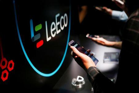 LeEco's new Le Pro3 phone is on display during a press event in San Francisco