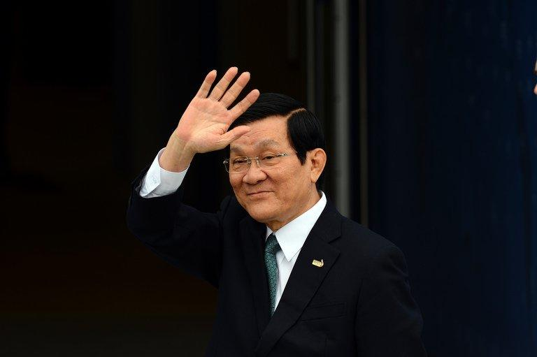 Vietnamese President Truong Tan Sang is shown in Vladivostok on September 8, 2012. The president on Thursday will become only the second Vietnamese head of state to visit the White House since the countries normalized ties. He will meet Wednesday with business leaders and Secretary of State John Kerry