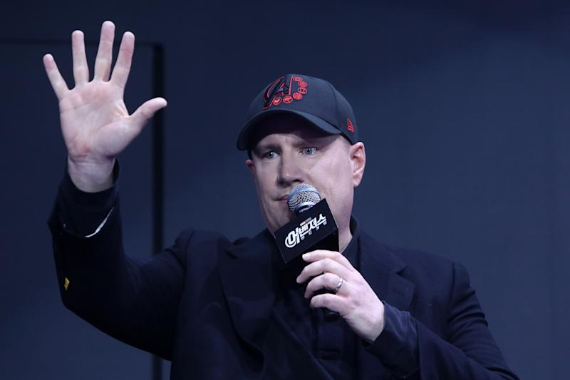 SEOUL, SOUTH KOREA - APRIL 15: Kevin Feige attends the fan event for Marvel Studios' 'Avengers: Endgame' South Korea premiere on April 15, 2019 in Seoul, South Korea. (Photo by Chung Sung-Jun/Getty Images for Disney)