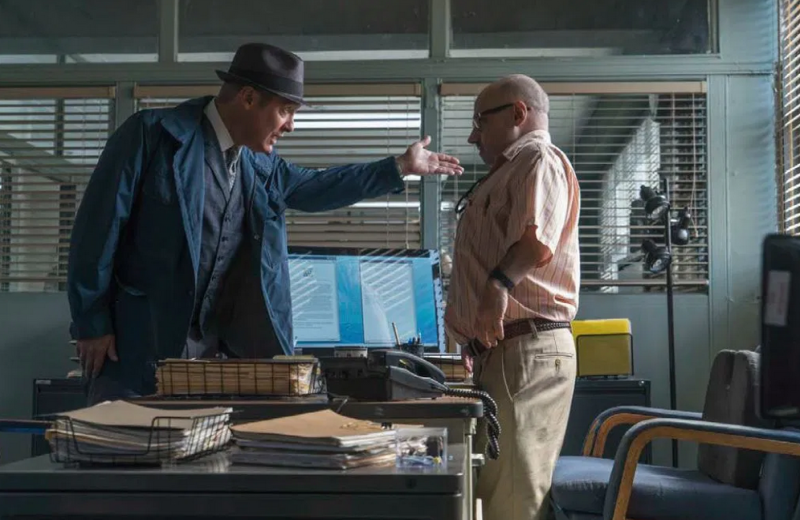 Middleton with James Spader in The Blacklist (Credit: NBC)