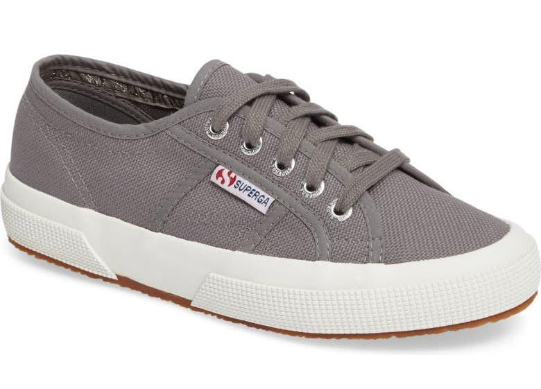Superga 'Cotu' Sneaker in Sage Grey. Image via Nordstrom.