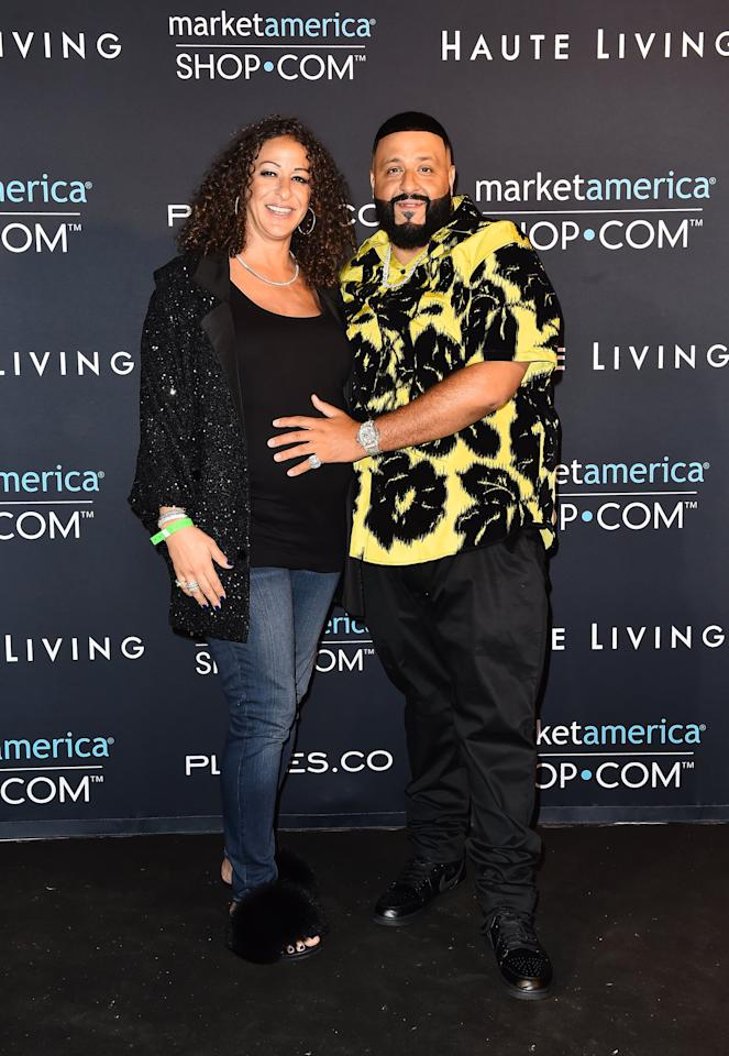 "<p>DJ Khaled and his wife, Nicole Tuck, announced the birth of their second child on Jan. 21. ""THANK YOU ALLAH,"" the music producer captioned <a href=""https://www.instagram.com/p/B7kd8j0p09w/"" target=""_blank"" class=""ga-track"" data-ga-category=""Related"" data-ga-label=""https://www.instagram.com/p/B7kd8j0p09w/"" data-ga-action=""In-Line Links"">one of the Instagram posts</a> announcing the newborn's arrival. ""THANK YOU MY QUEEN NICOLE ! BLESS UP DR JIN ! ANOTHER ONE !!!!!!!!!!!!!!!!!!!!""</p>"