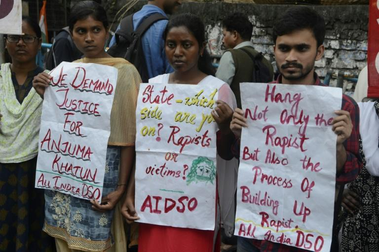Like in the infamous 2012 rape and murder of a woman on a Delhi bus, the gang-rape and murder of the 27-year-old veterinary doctor on November 27 prompted nationwide protests and calls for swift - and tough - justice (AFP Photo/DIPTENDU DUTTA)