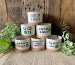 """<p><strong>LoveDotNett</strong></p><p>etsy.com</p><p><strong>$11.00</strong></p><p><a href=""""https://go.redirectingat.com?id=74968X1596630&url=https%3A%2F%2Fwww.etsy.com%2Flisting%2F705307774%2Fsucculent-planters-new-styles-added&sref=https%3A%2F%2Fwww.womenshealthmag.com%2Flife%2Fg33844080%2Fgag-gifts%2F"""" rel=""""nofollow noopener"""" target=""""_blank"""" data-ylk=""""slk:Shop Now"""" class=""""link rapid-noclick-resp"""">Shop Now</a></p><p>If there's a succulent-lover in your life, they're definitely going to find these clever planters LOL-worthy. With sayings like """"my plants succ"""" and """"I'm a succa for you,"""" these lil' guys will be a hit. </p>"""