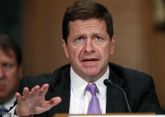 SEC Chairman Jay Clayton testifies before the Senate Banking Committee on Sept. 26, 2017. (AP/Pablo Martinez Monsivais)