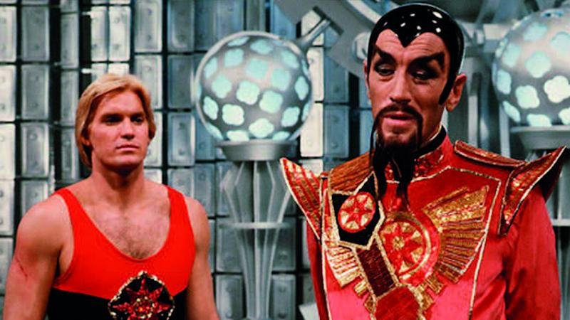 Sam J. Jones and Max Von Sydow in Flash Gordon (Credit: Universal)