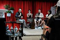 Chinese podcast hosts fill bookshops with listeners eager to meet the teams behind their favourite programs
