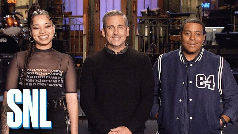 saturday night live highlights steve carell gets back to making us