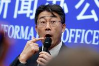 Gao Fu, director of China Center for Disease Control and Prevention addresses the media after a briefing in Beijing
