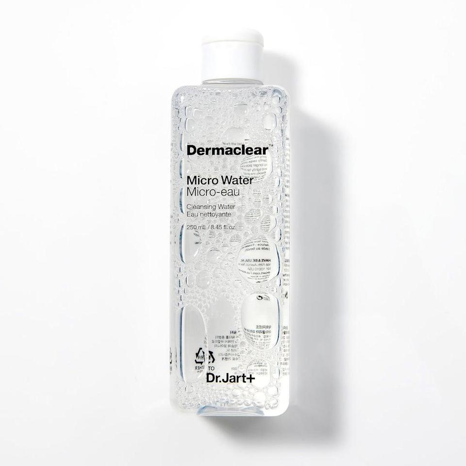 <p>Cleanse your skin and remove makeup with this <span>Dr. Jart+ Dermaclear Micro Water</span> ($32).</p>