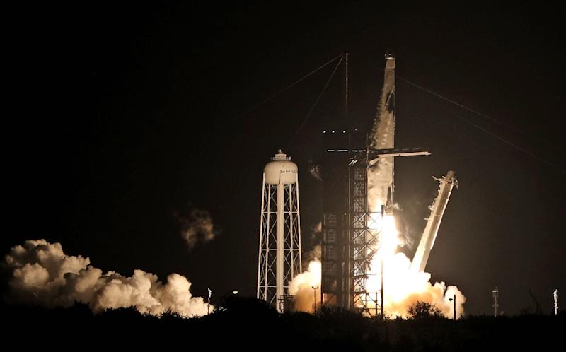 SpaceX launch: Nasa astronauts blasted into space on board private rocket and capsule