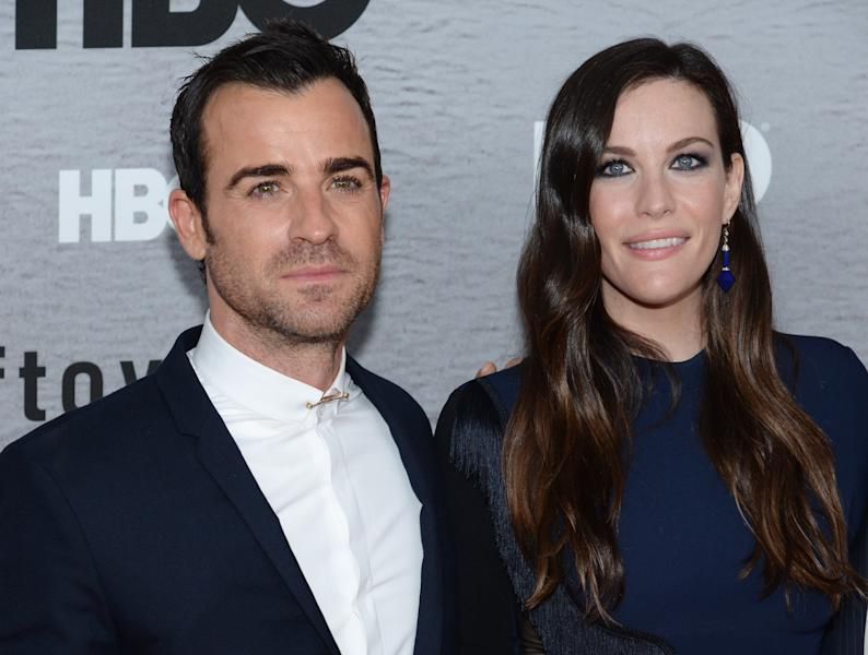 Actors Justin Theroux and Liv Tyler attend 'The Leftovers' premiere at NYU Skirball Center in New York, on June 23, 2014 (AFP Photo/Dimitrios Kambouris)