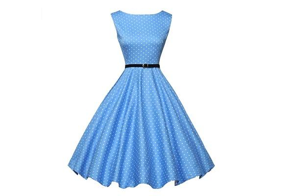 Grace Karin Boatneck Sleeveless Vintage Tea Dress with Belt. (Photo: Amazon)