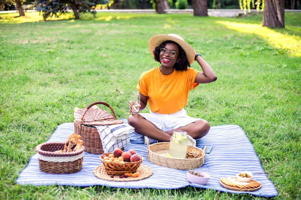 <p>Picnics can be enjoyed with friends or solo! Just make sure you have all of your favorite snacks.</p>