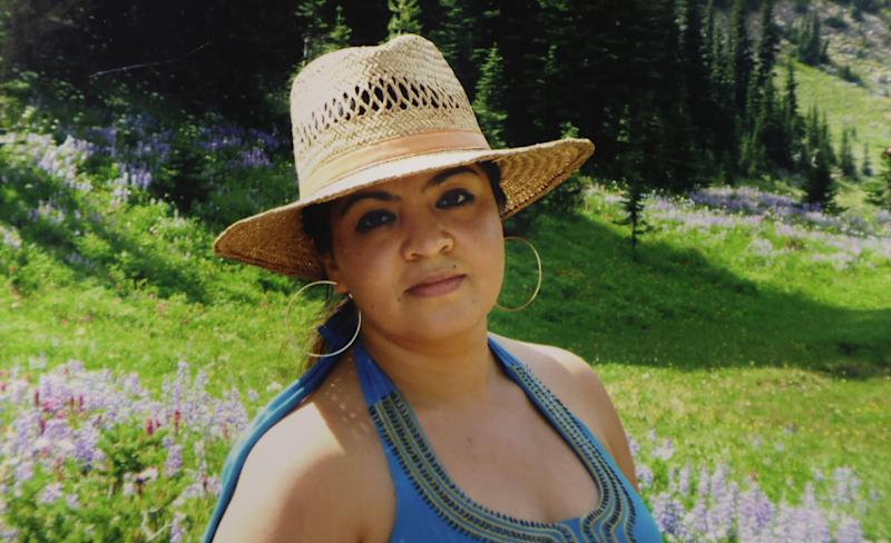 This 2009 family photo provided by Grisel Rodriguez shows Nestora Salgado, who has been detained since she was arrested Aug. 21, 2013 in the state of Guerrero, south of Mexico City, where she had been leading a vigilante group targeting police corruption and drug cartel violence. Her family has enlisted a human rights group to help push for her release after three months in custody on kidnapping allegations. (AP Photo/Courtesy Grisel Rodriguez)