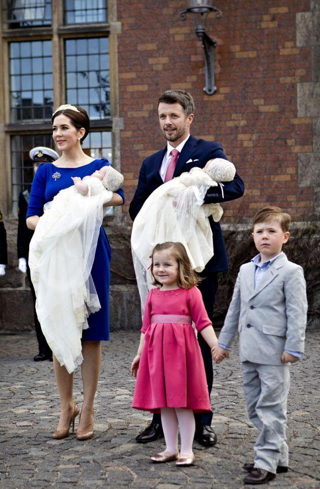 <p>April 2011: The twins were christened at the chapel of the Church of Holmen. Photo: Getty Images.</p>