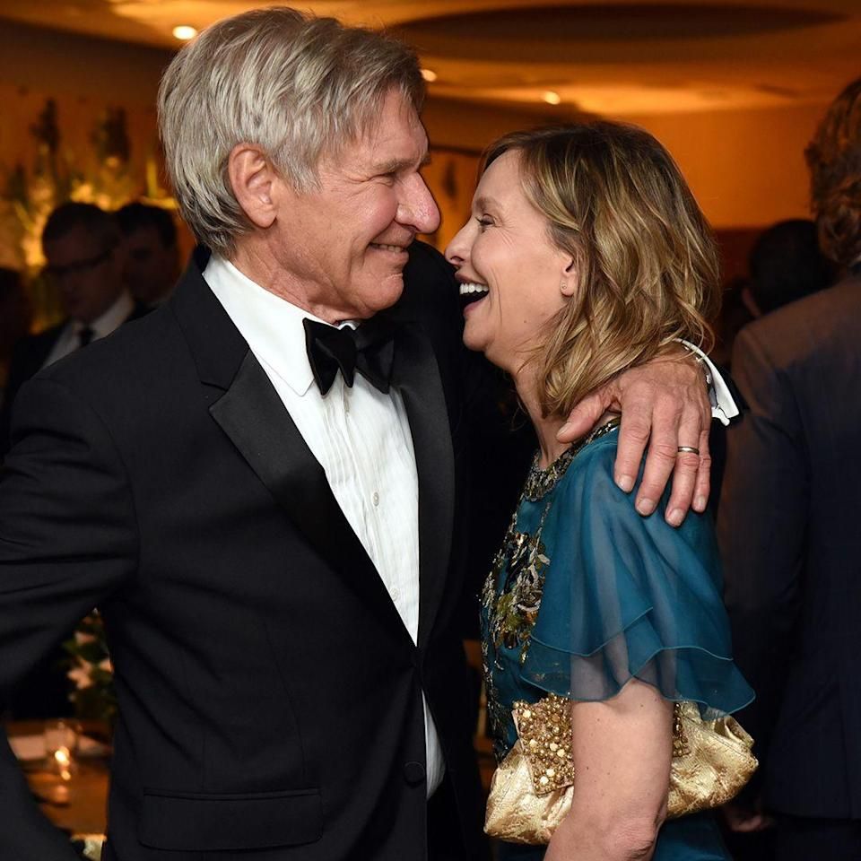 """<p><strong>Age gap:</strong> 22 years </p><p>Harrison and Calista, who have been married since 2010, don't seem to notice their age gap. """"It doesn't faze me. Sometimes I even say, 'Wow, I keep forgetting that he's 22 years older than me,'"""" Calista told <a href=""""https://us.hellomagazine.com/film/2003/06/13/harrisonford/"""" rel=""""nofollow noopener"""" target=""""_blank"""" data-ylk=""""slk:Hello! Magazine"""" class=""""link rapid-noclick-resp""""><em>Hello! Magazine</em></a>. """"It doesn't factor into our relationship at all. I like the way he looks first thing in the morning. It's not handsome, it's more cute. He looks like a little boy.""""</p>"""