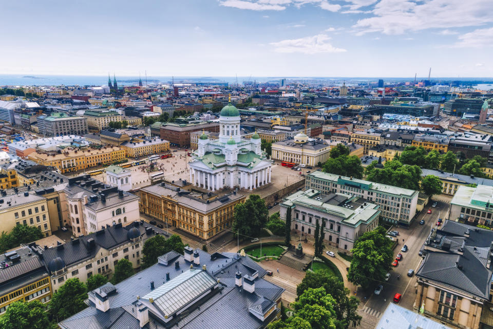 Aerial view of Helsinki, Finland. (Photo: Getty Images)
