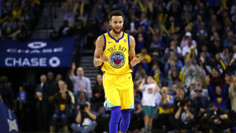 Curry reinjures troublesome ankle