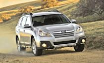 """<p>Also considered workhorses with impressive safety are Subaru's mid-size offerings, the <a href=""""https://www.caranddriver.com/subaru/legacy"""" rel=""""nofollow noopener"""" target=""""_blank"""" data-ylk=""""slk:Legacy"""" class=""""link rapid-noclick-resp"""">Legacy</a> sedan and the <a href=""""https://www.caranddriver.com/subaru/outback"""" rel=""""nofollow noopener"""" target=""""_blank"""" data-ylk=""""slk:Outback"""" class=""""link rapid-noclick-resp"""">Outback</a>, which is based on the Legacy but is part wagon and part crossover. Combine their sales and these have been among Subaru's best-selling models for the last decade. Both offer standard all-wheel drive, and the Outback has a higher riding suspension, which gives it more ground clearance for light off-roading. The fifth generation of the Legacy was sold through 2014, while its replacement was offered from 2015 to 2019. Most have a four-cylinder engine, but a more powerful six-cylinder was available. These Subarus also have a continuously variable automatic transmission (CVT), which can feel different than a conventional automatic. Older Legacys start around $7500, and Outbacks usually cost about $1000 more.</p>"""