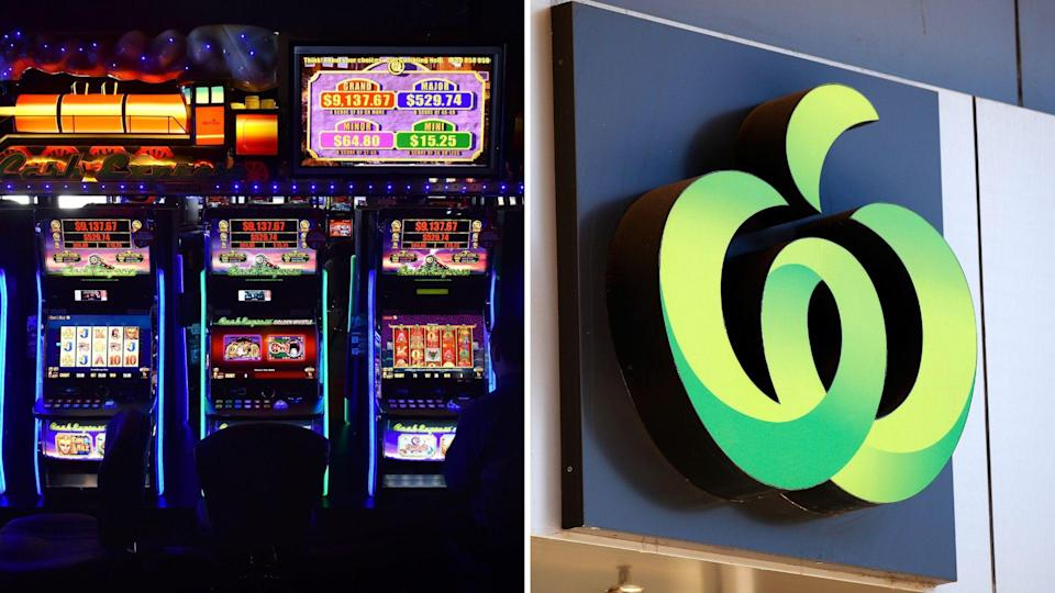 Woolworths is the largest owner of pokie machines in Australia. Images: Getty