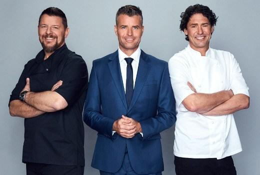 My Kitchen Rules: The Rivals Manu, Pete and collin