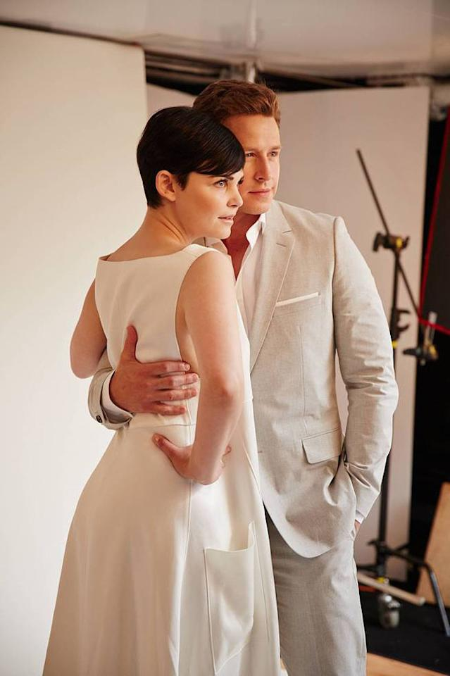 "Ginnifer Goodwin and Josh Dallas of ""Once Upon A Time"" posing for TV Guide at the 2013 Comic-Con International Convention."