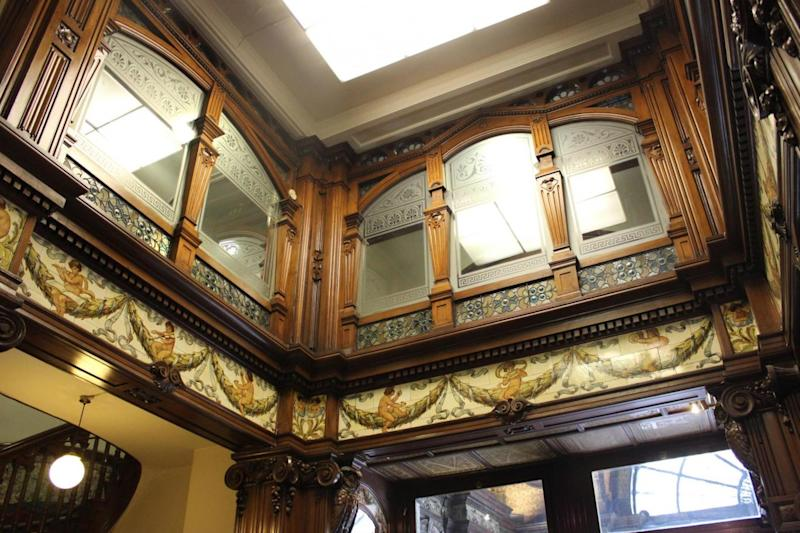 The inside of the building is filled with ornate decorations, mirrors and a fountain (Maggie Jones)
