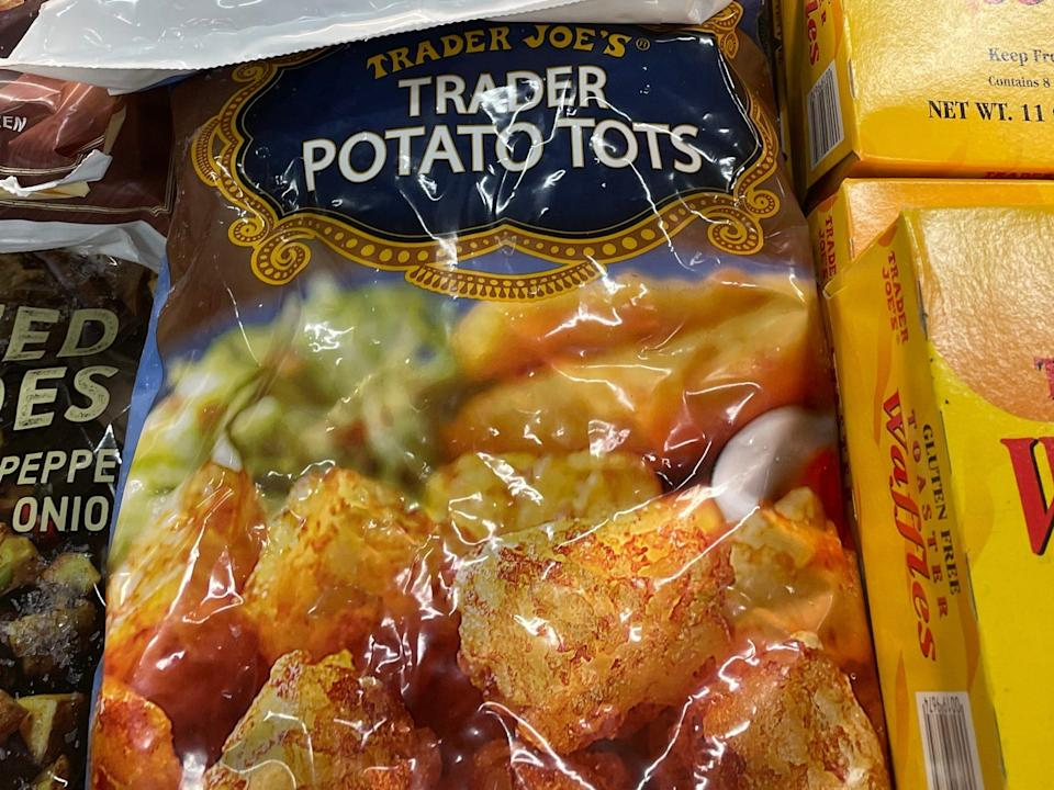 trader joes potato tots in the freezer aisle