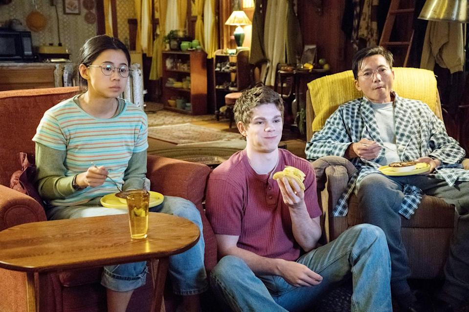 """<p>This LGBTQ+ coming-of-age dramedy revolves around Ellie Chu, a shy, straight-A student who agrees to help a popular jock write a love letter to his crush - with whom Ellie is also secretly in love. </p> <p><a href=""""http://www.netflix.com/title/81005150"""" class=""""link rapid-noclick-resp"""" rel=""""nofollow noopener"""" target=""""_blank"""" data-ylk=""""slk:Watch The Half of It on Netflix"""">Watch<strong> The Half of It </strong>on Netflix</a>.</p>"""