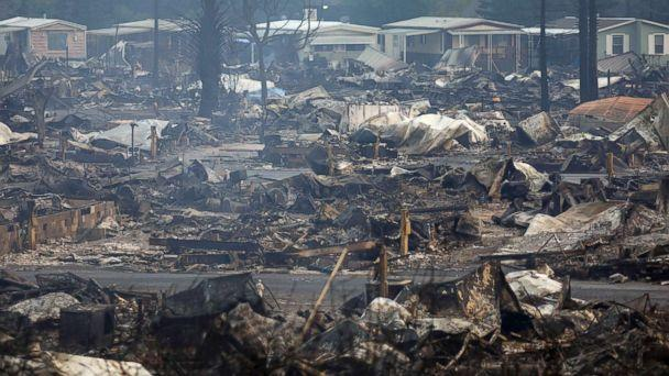 PHOTO: Destroyed homes at the Journey's End Mobile Home Park after a wildfire passed through in Santa Rosa, Calif., Oct. 9, 2017. (Jim Wilson/The New York Times/Redux)