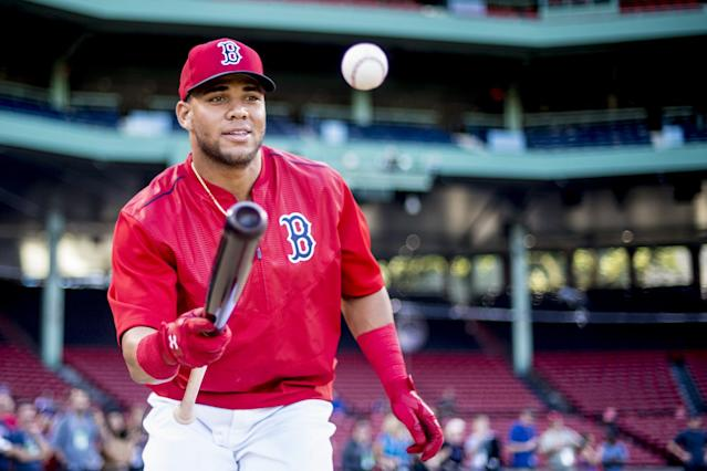 Boston's Yoan Moncada will likely be baseball's top prospect in 2017. (Getty Images)