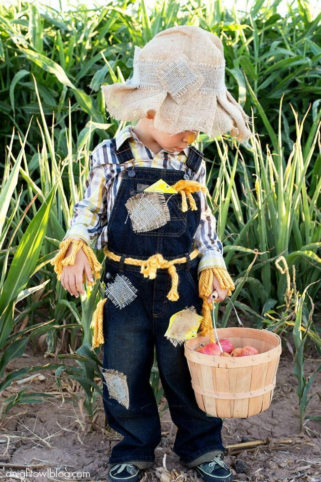 "<p>Transform hand-me-down overalls into a classic Halloween look by adding hand-sewn patches and a makeshift rope belt. Then wear them with a plaid shirt and burlap hat. </p><p><a class=""link rapid-noclick-resp"" href=""https://www.amazon.com/Jacobson-Hat-Company-Childs-Cowboy/dp/B00LY99NV8/?tag=syn-yahoo-20&ascsubtag=%5Bartid%7C10055.g.33397158%5Bsrc%7Cyahoo-us"" rel=""nofollow noopener"" target=""_blank"" data-ylk=""slk:SHOP HATS"">SHOP HATS</a></p><p><em><a href=""https://www.anightowlblog.com/easy-no-sew-scarecrow-costume/"" rel=""nofollow noopener"" target=""_blank"" data-ylk=""slk:Get the tutorial at A Night Owl Blog »"" class=""link rapid-noclick-resp"">Get the tutorial at A Night Owl Blog »</a></em></p>"
