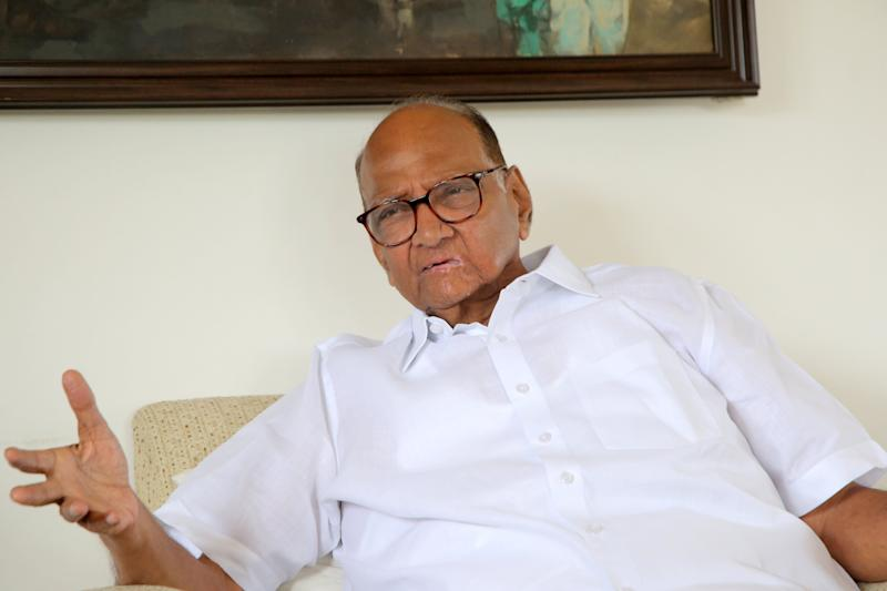 NCP chief Sharad Pawar during an interview with HuffPost India in September  (Photo: Pradnyesh Shailaja Dhyaneshwar Molak)