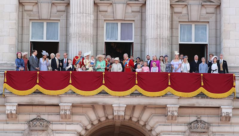 Royal family on the balcony for Trooping The Colour 2019