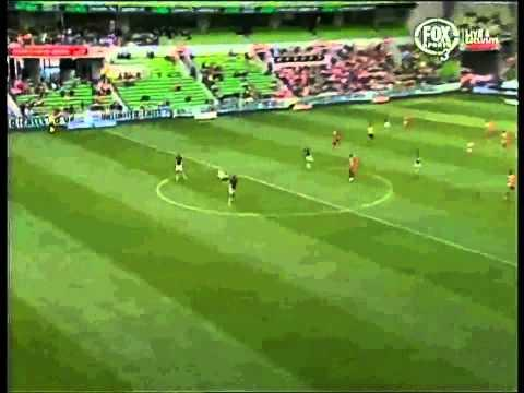 <p>On exactly the same day as Wayne Rooney's near halfway goal against West Ham in the Premier League in 2014, Orlando Engelaar trumped the Englishman's efforts with his magnificent long-range effort.</p> <br /><p>Englellar scored the goal whilst playing for Melbourne Heart in Australia's A-League. The Dutch midfielder led his team forward on the counter-attack. He then assessed his options either side of him, before opting to go alone and unleash a cracker over the Central Coast goalkeeper.</p>