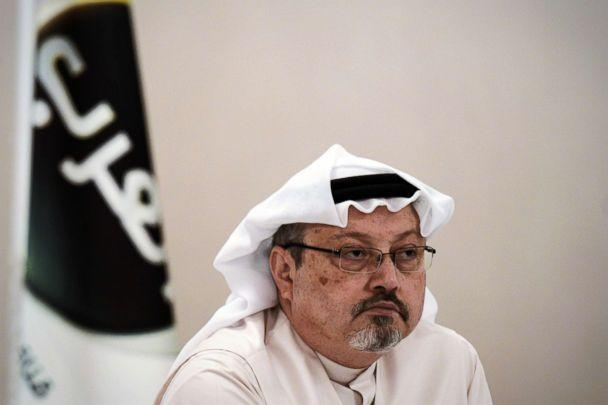 PHOTO: A general manager of Alarab TV, Jamal Khashoggi, looks on during a press conference in the Bahraini capital Manama, Dec. 15, 2014. (Niganned al-Shaikh/AFP/Getty Images)