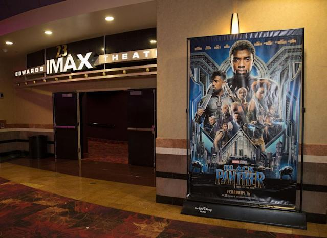 A screening of the movie Black Panther. (Photo: Getty Images)