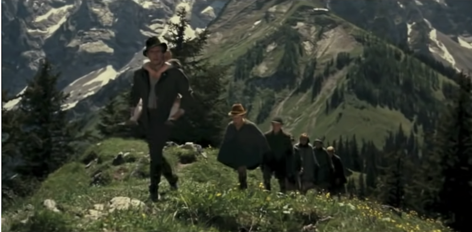 The von Trapps climb the Alps together