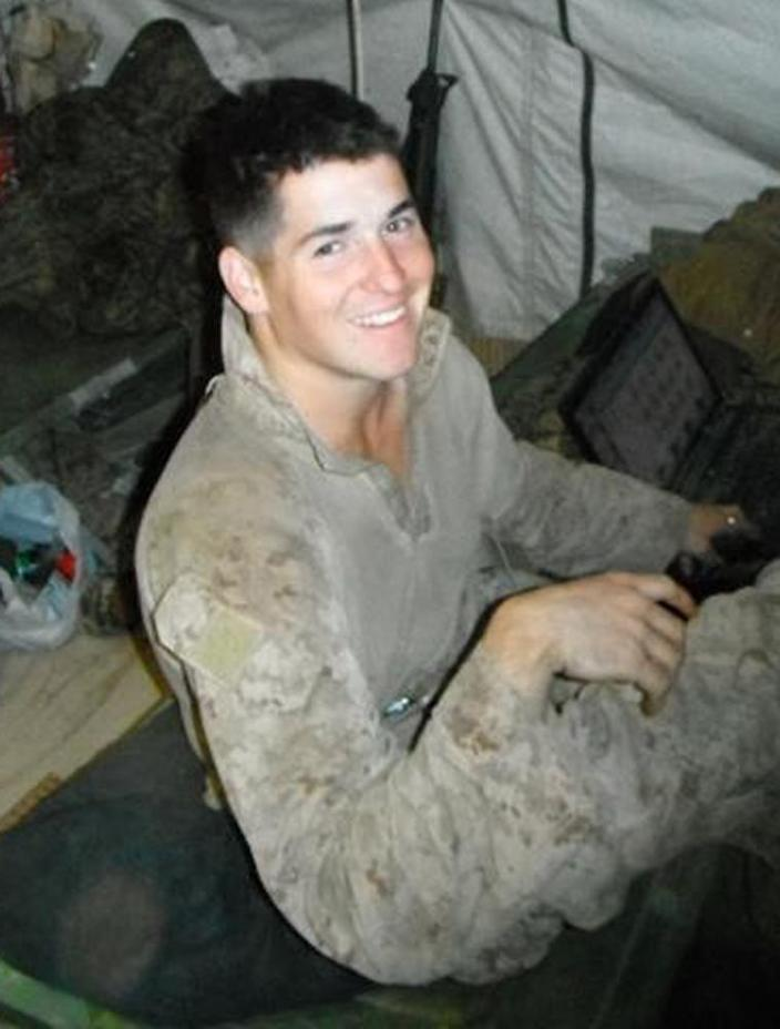 This undated photo provided by the U.S. Marines shows Lance Cpl. David P. Fenn II of Polk City, Fla. Penn, 20, was killed with six other Marines in an explosion during a Nevada training exercise on Monday, March 18, 2013. (AP Photo/U.S. Marines)