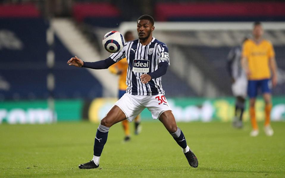 West Bromwich Albion's Ainsley Maitland-Niles during the Premier League match at The Hawthorns - PA