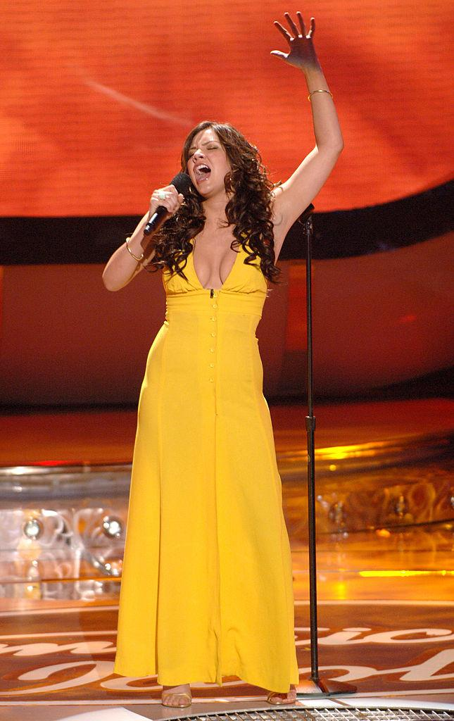 """McPhee performed """"I Have Nothing"""" on """"American Idol"""" in 2006. The song was written by her now husband, David Foster. (Photo by Ray Mickshaw/WireImage for Fox Television Network)"""
